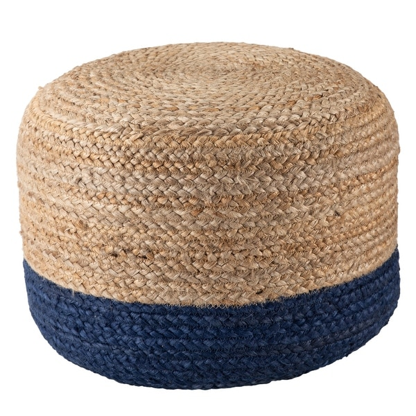 The Curated Nomad Camarillo Modern Tan Cylindrical Shape Jute Pouf. Opens flyout.