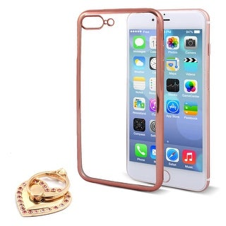 Cellphone TPU Phone Case w Heart Shaped Ring Holder for iPhone 7 Plus