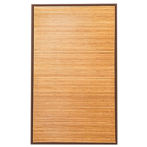 Costway 5' x 8' Bamboo Area Rug Floor Carpet Natural Bamboo Wood Indoor Outdoor New - as pic