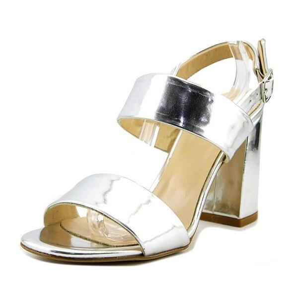 Summit White Mountain Morna Women Open Toe Leather Silver Sandals