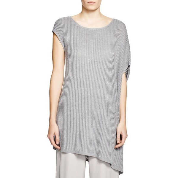 0f4613bdd56 Shop Eileen Fisher Womens Tunic Sweater Linen Ribbed Knit - Free Shipping  On Orders Over $45 - Overstock.com - 15813519