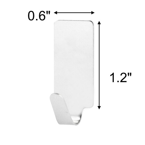 6//12PCS Self Adhesive Home Kitchen Wall Door Stainless Steel Holder Hook Hanger