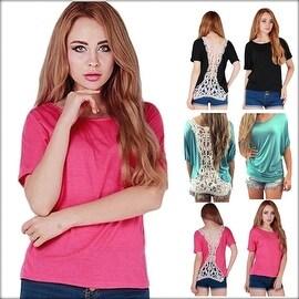 Fashion Sexy Women Summer Short Sleeve Blouse Casual Tank Tops Hollow Hem Lace Top Vest T-Shirt