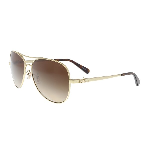 e23e32514d2 ... coupon coach hc7074 931013 light gold aviator sunglasses 59 15 140  18b6d f803e