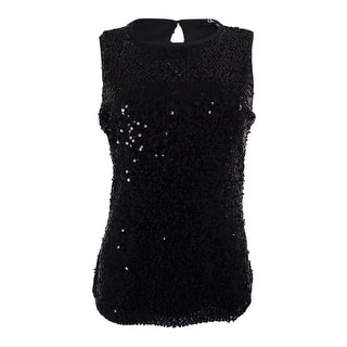 Onyx Nite Women's Sequined Sleeveless Blouse - Black|https://ak1.ostkcdn.com/images/products/is/images/direct/89f8734fc9ac072a47506930ad0ca2c9352a583a/Onyx-Nite-Women%27s-Sequined-Sleeveless-Blouse.jpg?impolicy=medium