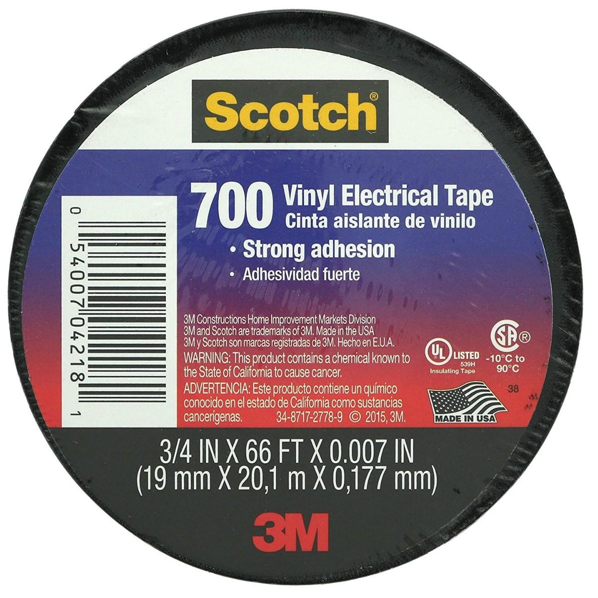 """White 3//4/"""" x 66/' Scotch 10828-BA-10 Vinyl Electrical Tape"""