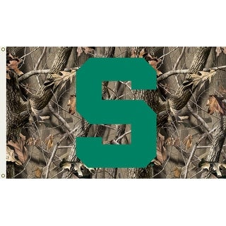 Michigan State University Spartans Camo Flag
