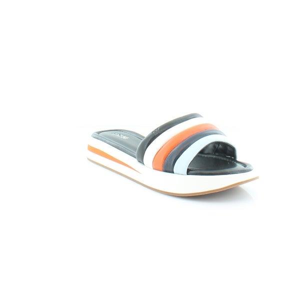 Michael Kors Conrad Slide Women's Sandals & Flip Flops Blk/Mimosa