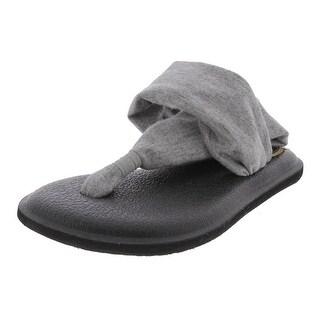 Sanuk Girls Yoga Sling Bling Flat Sandals Metallic Thong
