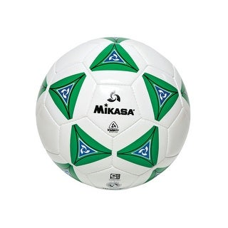 Mikasa No 5 Deluxe Cushioned Soccer Ball, Green/White/Blue