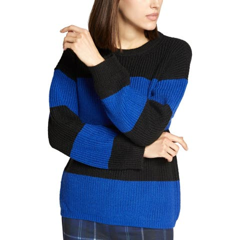 Sanctuary Womens Pullover Sweater Colorblock Rugby - Electric Blue - M