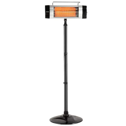 Costway 1500W Electric Patio Heater Freestanding Adjustable Infrared