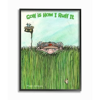 Link to Stupell Industries Golf Is How I Ruff It Funny Golf Cartoon Sports Design Framed Wall Art Similar Items in Canvas Art