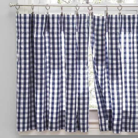 Checkmate Rod Pocket Kitchen Curtains - Tier, Swag or Valance (Sold Separately)