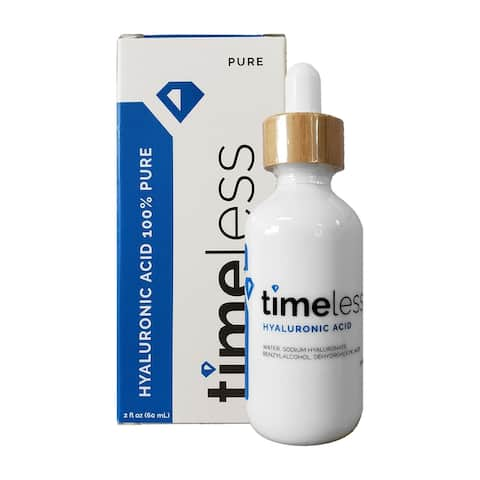 Timeless Skincare Hyaluronic Acid 100-Percent 2-ounce Pure Serum