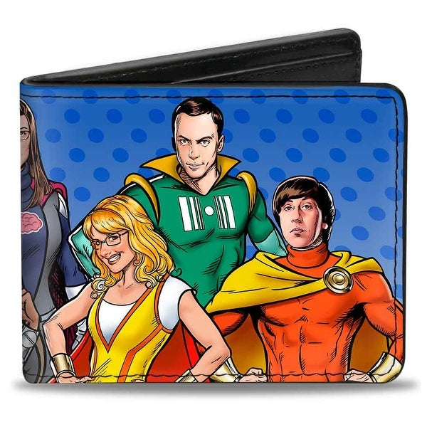 The Big Bang Theory Superhero Characters2 Bi Fold Wallet - One Size Fits most
