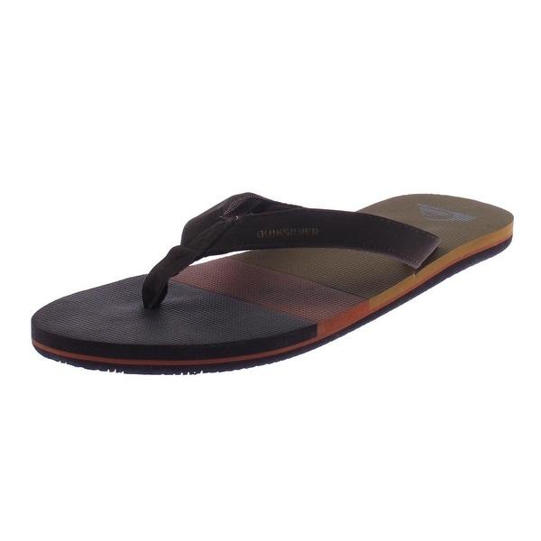 Quiksilver Mens Flip-Flops Faix Leather Casual
