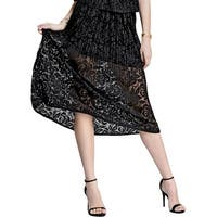 Rachel Rachel Roy Womens A-Line Skirt Lace Pleated