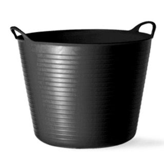 Tubtrugs SP14GBK Recycled Flexible Gorilla Tub, Small, 14 Liter, Black