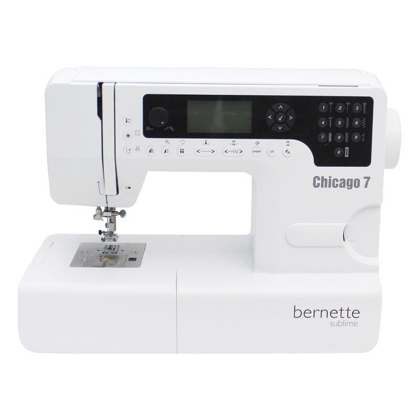 Bernette Chicago 7 Swiss Design Embroidery Machine Free Shipping