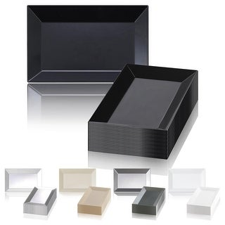 Link to Solid Rectangular Disposable Plastic Plate Packs - Party Supplies Similar Items in Dinnerware