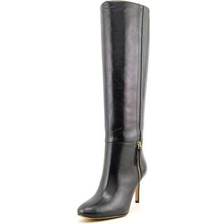 Nine West Vintage Women  Round Toe Leather Black Knee High Boot