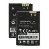 Replacement LG LGIP-520N Li-ion Mobile Phone Battery - 1000mAh / 3.7v (2 Pack)