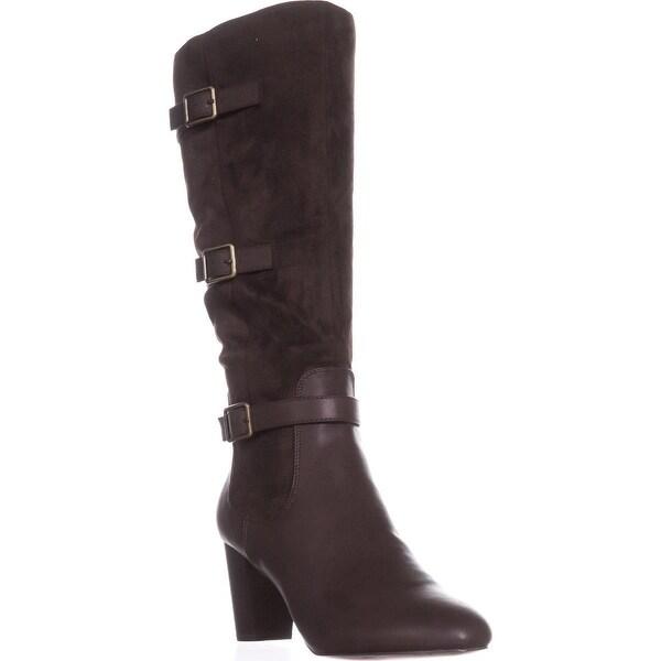 Bella Vita Talina II Tall Harness Boots, Brown/Super Suede