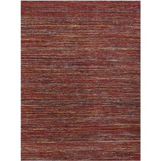 2 x 3 ft. Banaras Modern Design Hand-Woven Rug, Red