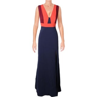 BCBG Max Azria Womens Natalli Formal Dress Woven Colorblock - 4