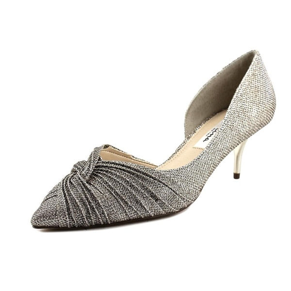 Nina Taylie Women Pointed Toe Synthetic Silver Heels