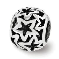 Sterling Silver Reflections Star Bead (4mm Diameter Hole)