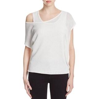 T Tahari Womens Tamia Pullover Sweater Open Shoulder Jewel Neck
