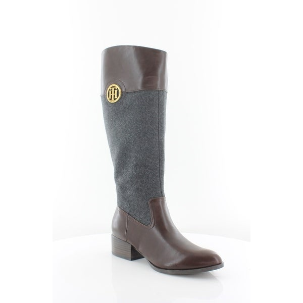 78743cd22 Shop Tommy Hilfiger Madelen Women s Boots Dark Gray - Free Shipping ...