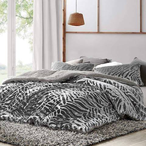 Primal Zebra - Coma Inducer Oversized Duvet Cover - Silver Black