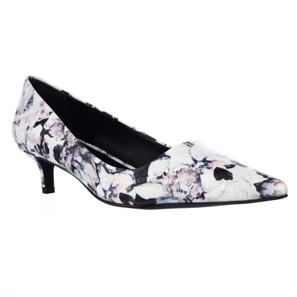 Charles by Charles David Drew Kitten Heels Pumps - Dark Multi Floral - 5.5 us