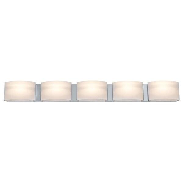 DVI Lighting DVP1755 Vanguard 5 Light Halogen Bathroom Vanity Fixture