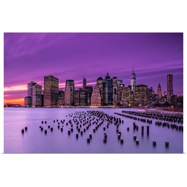 """""""Violet Sunset"""" Poster Print"""