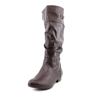 White Mountain Fox Women Round Toe Synthetic Brown Knee High Boot