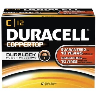 Duracell DMN1400BKD  Coppertop C Battery, Bulk (Package of 12)