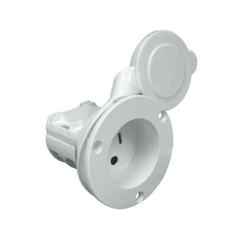 Promariner AC Plug Holder - White Promariner Ac Plug Holder - White