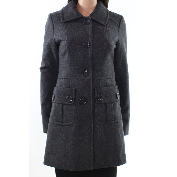 c74a8d9e5c23f Tulle NEW Charcoal Gray Womens Size XS Button-Front Patch Pocket Coat