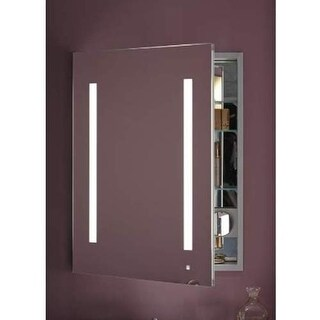 "Robern AC2430D4P1L AiO 24"" x 30"" x 4"" Single Door Medicine Cabinet with Left Hin"