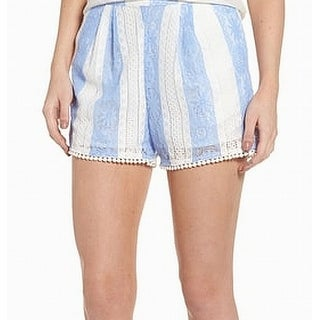 J.O.A. Blue White Stripe Floral Lace Women's Size Small S Shorts