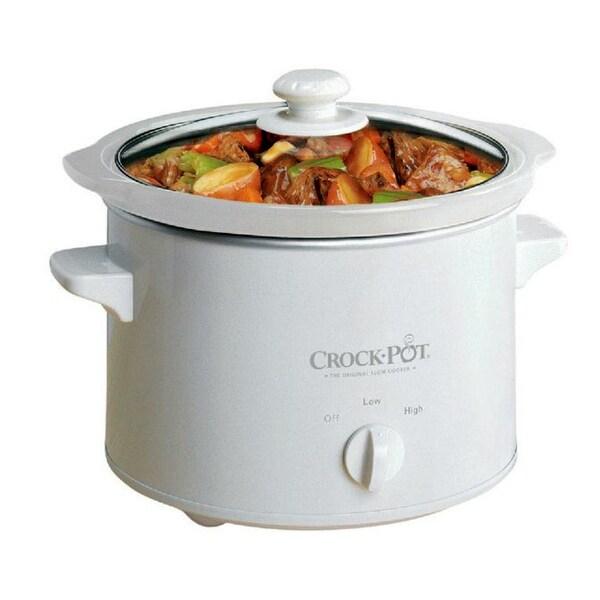 Crock Pot 5025-WG-NP Manual Slow Cooker, 2.5 Qt, Round, White