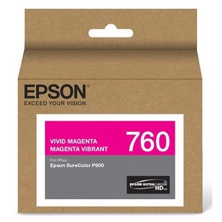 Epson T760320 Ultrachrome Hd Vivid Magenta Standard Capacity Cartridge Ink