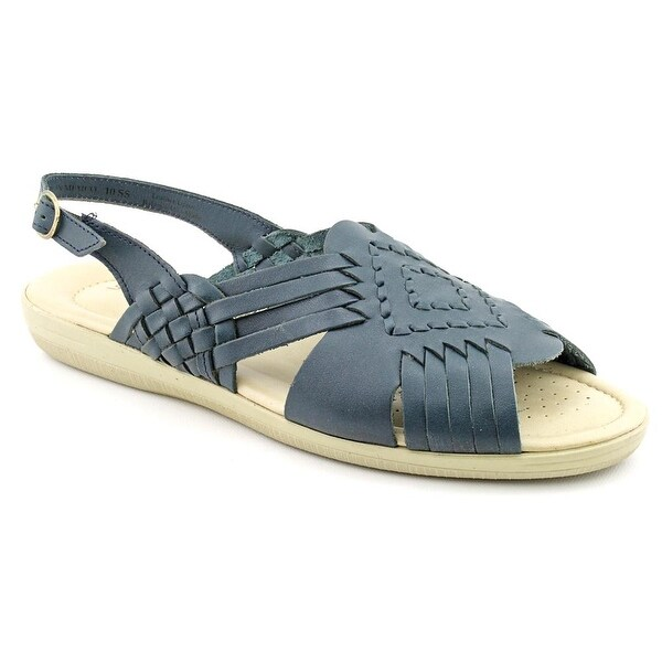 Softspots Tela Women N/S Open-Toe Leather Blue Slingback Sandal