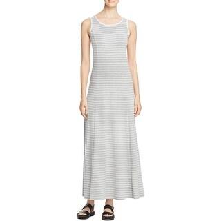 Three Dots Womens Daisy Casual Dress Striped Sleeveless