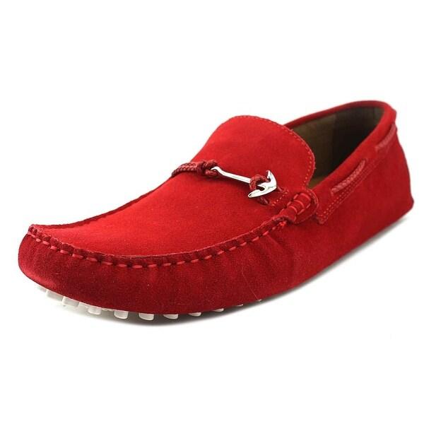 Aldo Tony Women Moc Toe Suede Red Loafer