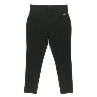 Calvin Klein Womens Plus Skinny Pants Power Stretch Wide Band